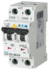 Выключатель авт. диф. тока 2п 30мА 10А FRBDM-C10/2/003-G/A цифровой EATON 168202 купить в интернет-магазине RS24
