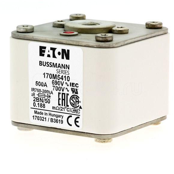Предохранитель быстрый 500А 690В 2BN/50 AR UC EATON 170M5410 купить в интернет-магазине RS24
