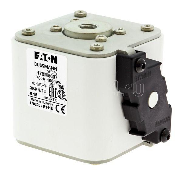Предохранитель быстрый 700А 1000В 3BKN/75 AR UR EATON 170M8607 купить в интернет-магазине RS24