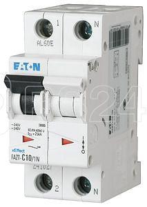 Выключатель автоматический модульный 2п (1P+N) C 25А 25кА FAZT-C25/1N EATON 241044 купить в интернет-магазине RS24