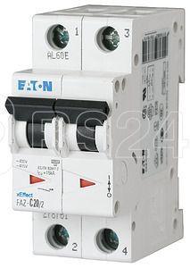 Выключатель автоматический модульный 2п 25А 15кА FAZ-S25/2 EATON 278813 купить в интернет-магазине RS24