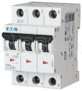 Выключатель автоматический модульный 3п C 0.25А 15кА FAZ-C0.25/3 EATON 278855 купить в интернет-магазине RS24