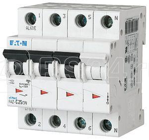 Выключатель автоматический модульный 4п (3P+N) D 2А 15кА FAZ-D2/3N EATON 278986 купить в интернет-магазине RS24