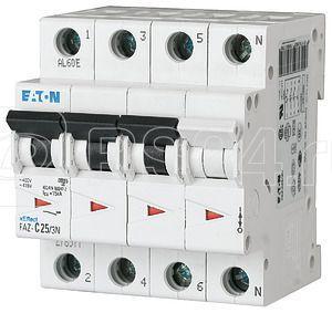 Выключатель автоматический модульный 4п (3P+N) K 4А 15кА FAZ-K4/3N EATON 279008 купить в интернет-магазине RS24