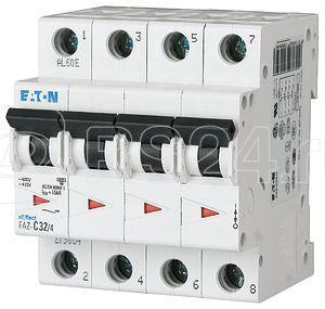 Выключатель автоматический модульный 4п D 3.5А 15кА FAZ-D3.5/4 EATON 279075 купить в интернет-магазине RS24