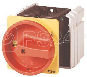 Выключатель нагрузки спец. конструкция 1-мод. Ie=80А 0-1 перед. креп. T5-1-SOND /EA/SVB красн./желт. ручка EATON 908031 купить в интернет-магазине RS24