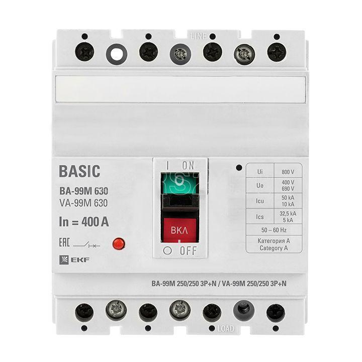 Выключатель автоматический 3п+N 630/400А 50кА ВА-99М PROxima EKF mccb99-630-400m-4P купить в интернет-магазине RS24