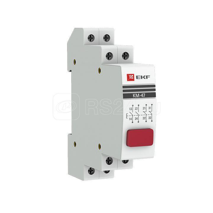 Кнопка модульная КМ-47 красная EKF mdb-47-red-pro