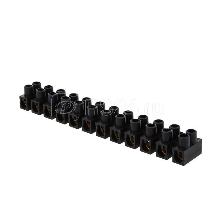 Колодка клеммная 12мм 16А полистирол черн. EKF plc-KK-12-16-ps-b купить в интернет-магазине RS24