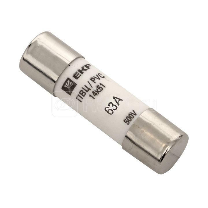 Вставка плавкая цилиндрическая ПВЦ 14х51 63А EKF pvc-14x51-63 купить в интернет-магазине RS24