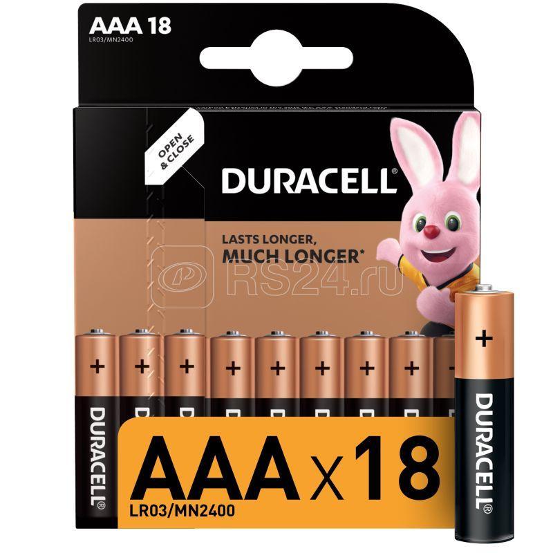Элемент питания алкалиновый LR03-18BL BASIC (блист.18шт) Duracell Б0014449 купить в интернет-магазине RS24