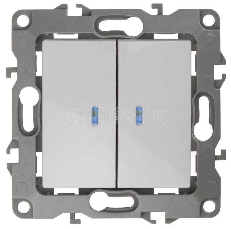 Механизм выключателя 2-кл. СП Эра12 10А IP20 12-1105-01 250В 10AX с подсветкой бел. Эра Б0014657 купить в интернет-магазине RS24