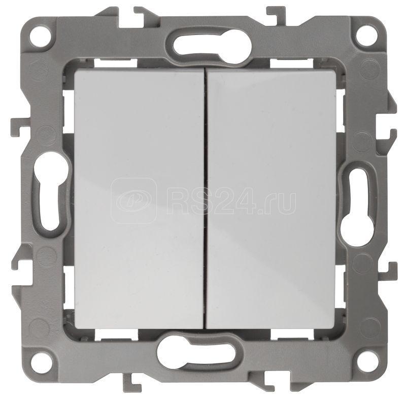 Механизм переключателя 2-кл. СП Эра12 10А IP20 12-1106-01 250В 10AX бел. Эра Б0014663 купить в интернет-магазине RS24