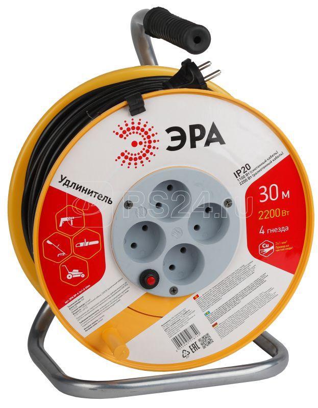 Удлинитель силовой на катушке RP-4-2х1.0-30m 4х30м пласт. без зазем. ПВС 2х1 ЭРА Б0017620 купить в интернет-магазине RS24