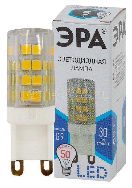 Лампа светодиодная JCD-5w-220V-corn ceramics-840-G9 400лм ЭРА Б0027864 купить в интернет-магазине RS24