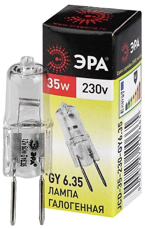 Лампа галогенная GY6.35-JCD-35W-230V 35Вт капсула GY6.35 230В Эра C0027373 купить в интернет-магазине RS24