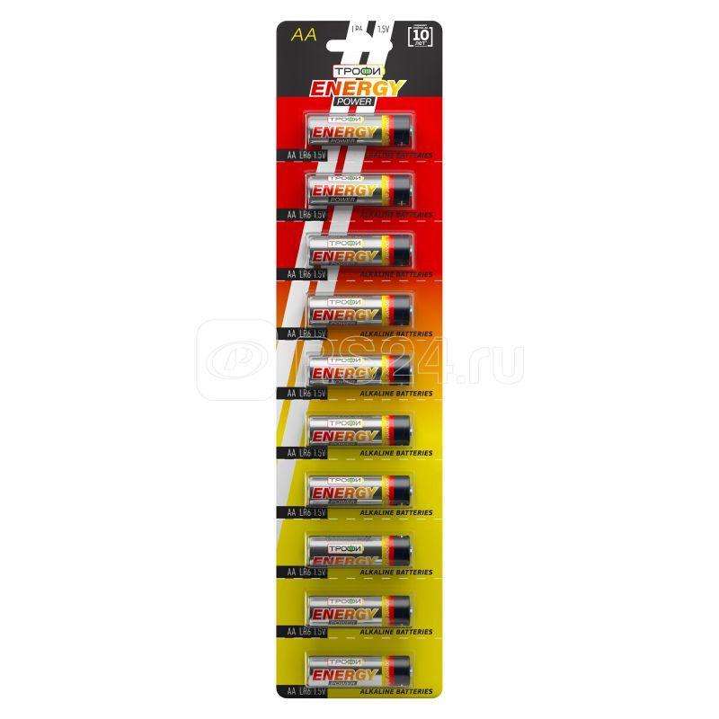 Элемент питания алкалиновый LR6-10BL strip (блист.10шт) Трофи C0034054 купить в интернет-магазине RS24