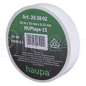 Изолента ПВХ 25мм (рул.20м) бел. HAUPA 263864
