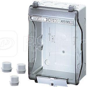 Корпус пластиковый пустой 253х168х115 IP55/IP65 сер. с непрозр. крышкой KG 9002 IN HENSEL 33001001 купить в интернет-магазине RS24