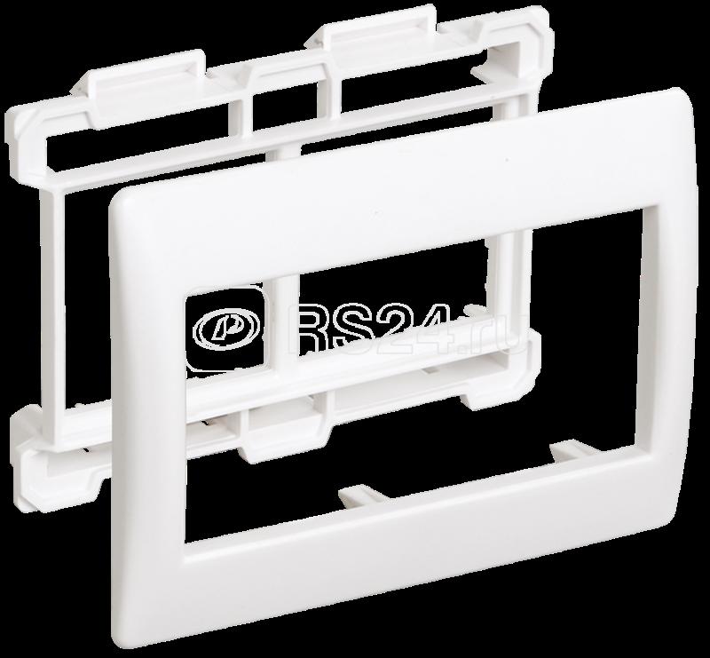 Рамка 4мод. Праймер с суппортом 75мм бел. ИЭК CKK-40D-RSU4-075-K01