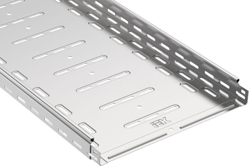 Лоток листовой перфорированный 300х50 L3000 сталь 0.8мм IEK CLP10-050-300-3 купить в интернет-магазине RS24