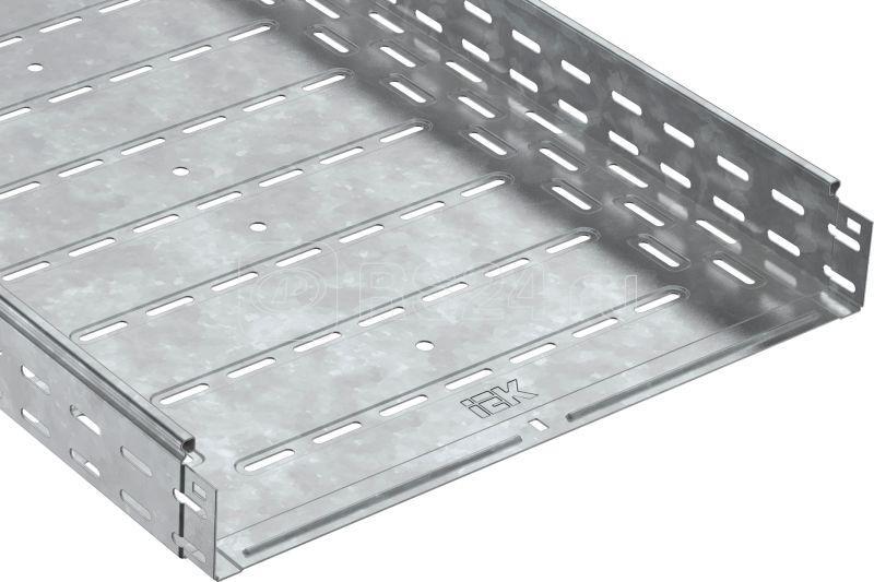 Лоток листовой перфорированный 500х80 L3000 сталь HDZ IEK CLP10-080-500-3-M-HDZ купить в интернет-магазине RS24