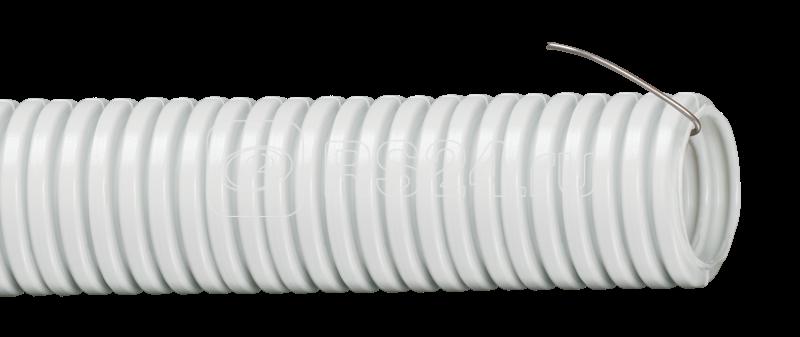 Труба гофрированная ПВХ d32мм с зондом сер. (уп.25м) ИЭК CTG20-32-K41-025I