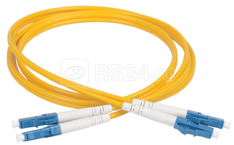 Патч-корд оптический коммутационный соединительный для одномодового кабеля (SM); 9/125 (OS2); LC/UPC-LC/UPC (Duplex) (дл.10м) ITK FPC09-LCU-LCU-C2L-10M купить в интернет-магазине RS24