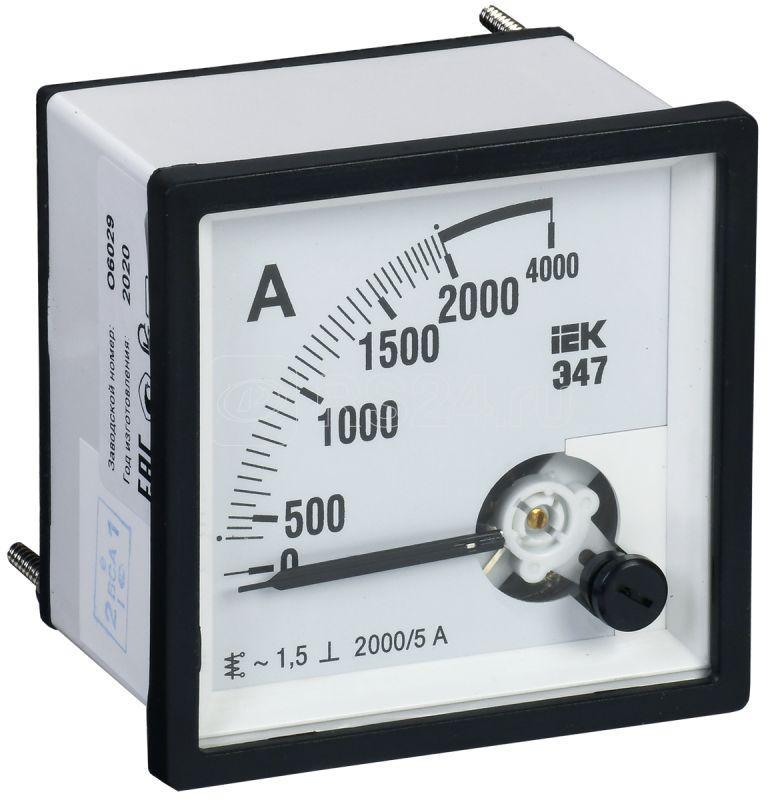 Амперметр Э47 96х96мм 2000/5А кл. точн. 1.5 IEK IPA20-6-2000-E купить в интернет-магазине RS24