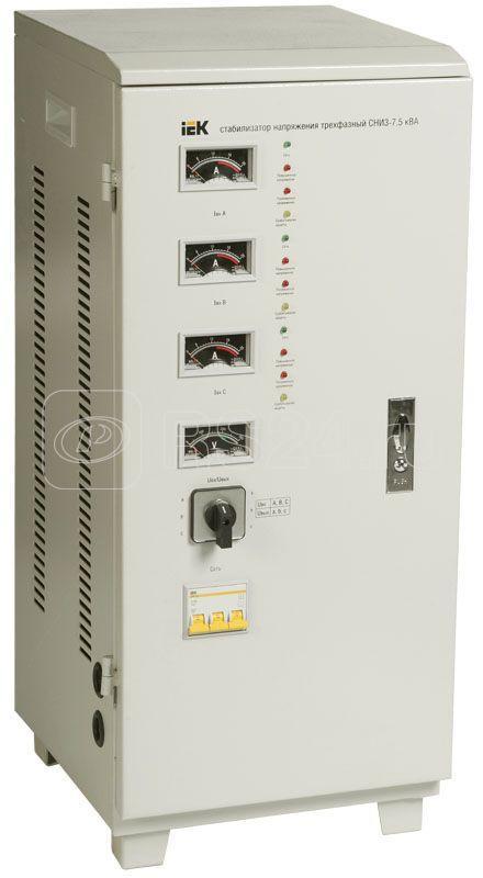 Стабилизатор напряжения СНИ 3/380 7.5кВА 3ф IEK IVS10-3-07500 купить в интернет-магазине RS24