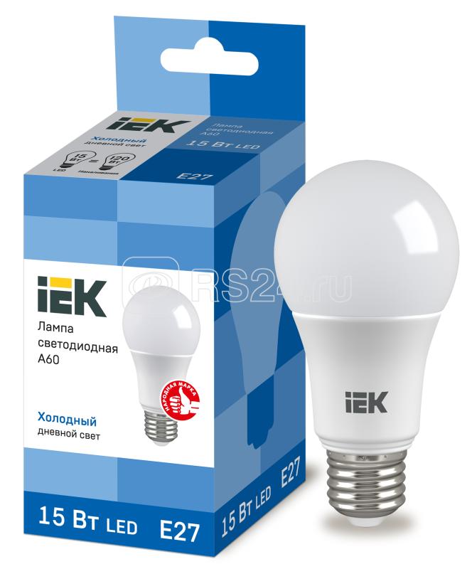 Лампа светодиодная ECO A60 15Вт грушевидная 230В 6500К E27 ИЭК LLE-A60-15-230-65-E27
