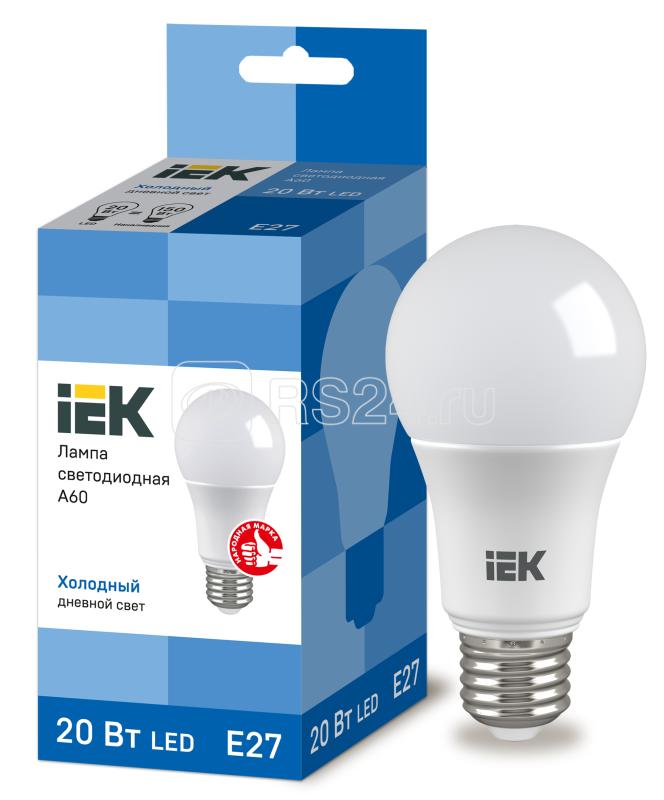 Лампа светодиодная ECO A60 20Вт грушевидная 230В 6500К E27 ИЭК LLE-A60-20-230-65-E27
