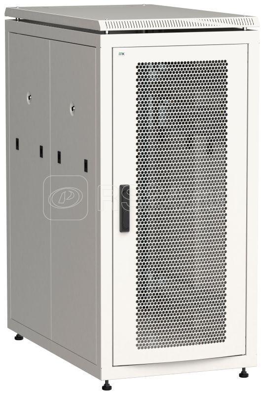 Шкаф сетевой 19дюйм  LINEA N 24U 600х1000мм с L-профилями перфорированные двери сер. ITK LN35-24U61-PP-L купить в интернет-магазине RS24