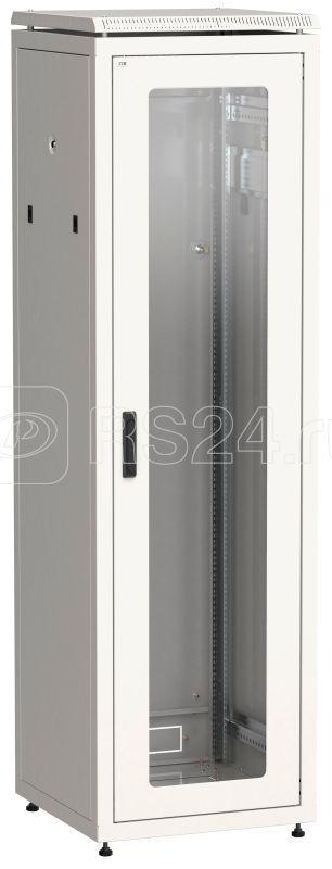 Шкаф сетевой 19дюйм LINEA N 33U 600х600мм стеклянная передняя дверь задняя металлическая сер. ITK LN35-33U66-GM купить в интернет-магазине RS24