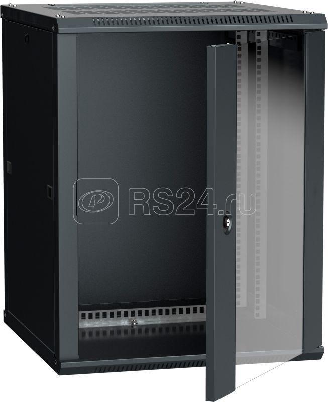 Шкаф 19дюйм LINEA W 15U 600х600мм настен. стекл. дверь RAL9005 ITK LWR5-15U66-GF купить в интернет-магазине RS24