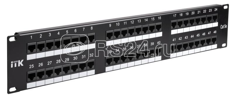 Патч-панель 2U кат.5е UTP 48 портов (Dual) ITK PP48-2UC5EU-D05 купить в интернет-магазине RS24