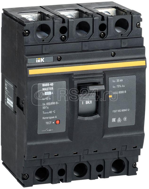 Выключатель автоматический 3п 800А 35кА ВА88-40 MASTER IEK SVA50-3-0800-02 купить в интернет-магазине RS24