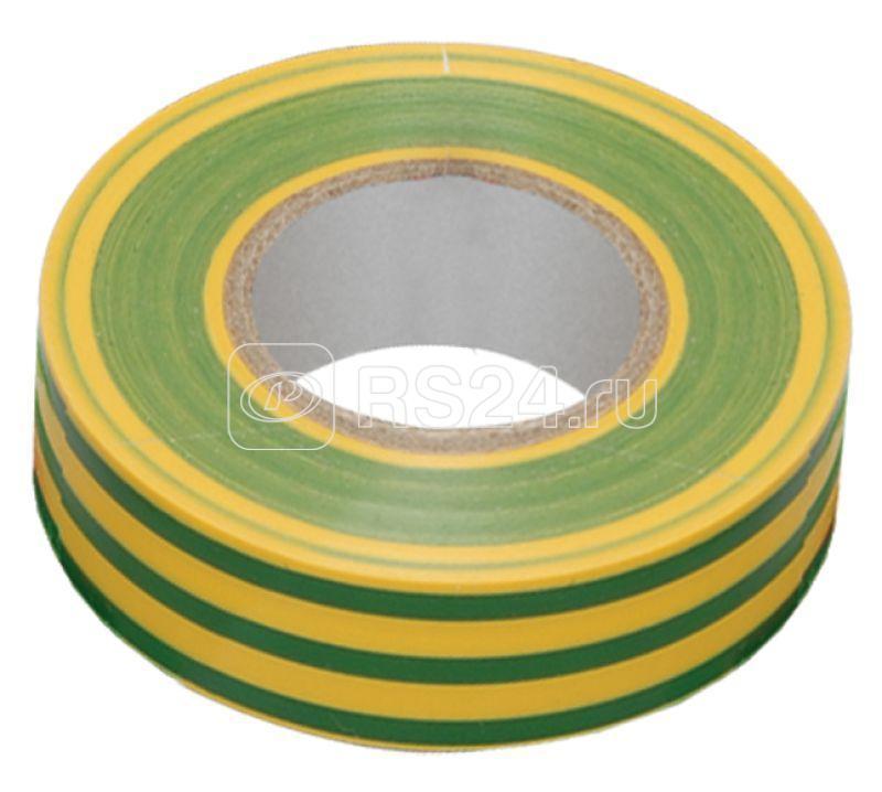 Изолента ПВХ 0.13х15мм (рул.20м) жел./зел. ИЭК UIZ-13-10-K52