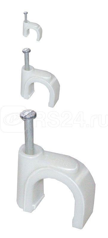 Скоба крепежная круглая 10мм пластиковая (уп.100шт) ИЭК USK11-10-100 купить в интернет-магазине RS24