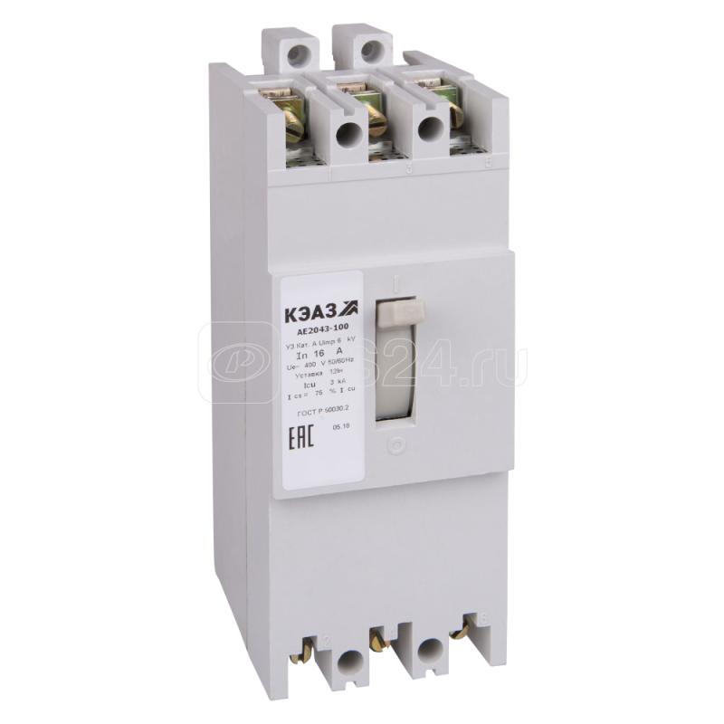 Выключатель автоматический 25А 12Iн АЕ2046-10Р У3 АЭС 400В AC КЭАЗ 104237 купить в интернет-магазине RS24