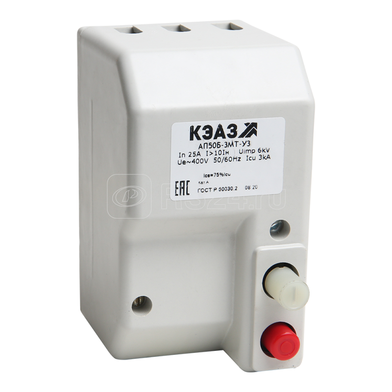 Выключатель автоматический 16А 3.5Iн АП50Б 1М2ТД У3 400В AC/220В DC НР=230В AC/DC КЭАЗ 106413 купить в интернет-магазине RS24