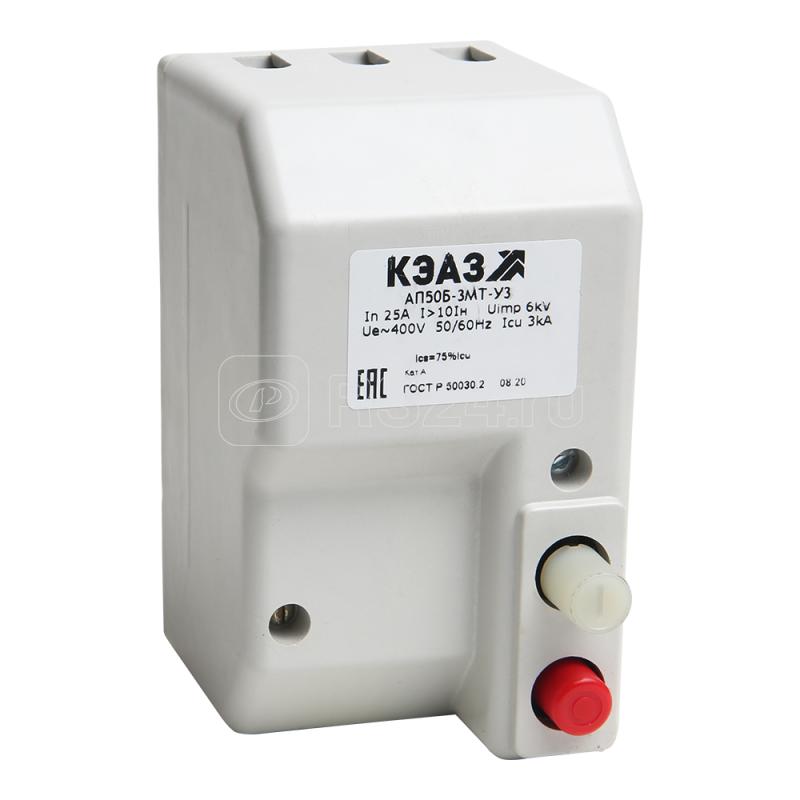 Выключатель автоматический 6.3А 10Iн АП50Б 2МТ У3 400В AC/220В DC доп. контакты 1п КЭАЗ 106967 купить в интернет-магазине RS24