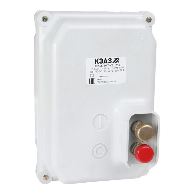 Выключатель автоматический 2п 6.3А 10Iн АП50Б 2МТ У2 400В AC/220В DC доп. контакты IP54 КЭАЗ 107066 купить в интернет-магазине RS24