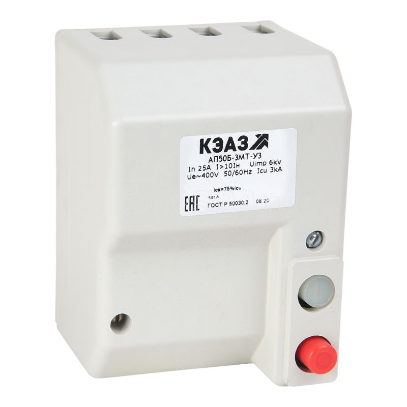Выключатель автоматический 3п 16А АП50Б 3Т У3 400В AC доп. контакты 2п КЭАЗ 107515 купить в интернет-магазине RS24