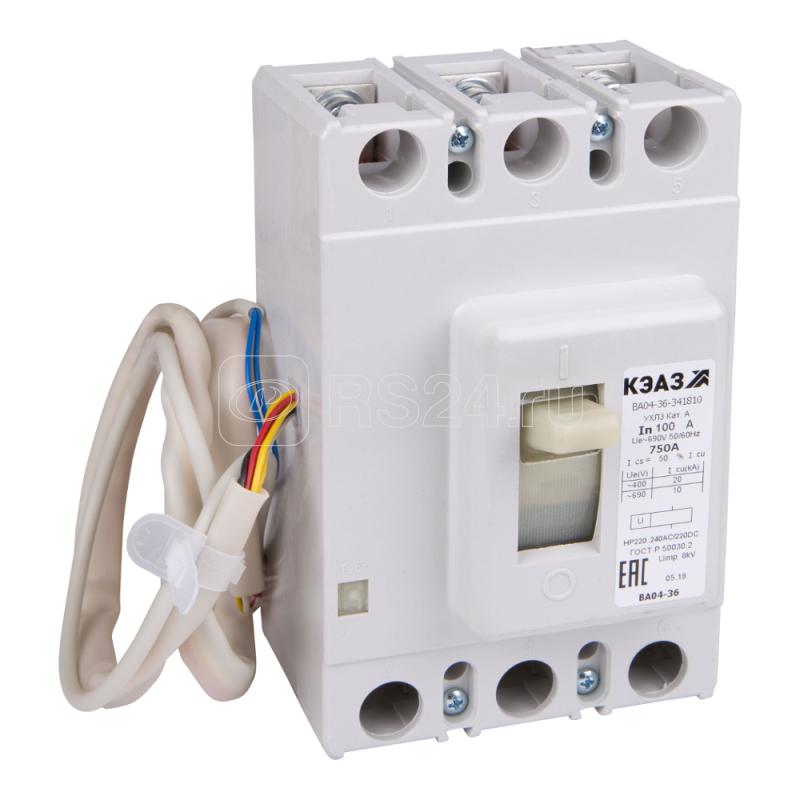 Выключатель автоматический 40А 400Im ВА04-36-341110 УХЛ3 690В AC КЭАЗ 107584 купить в интернет-магазине RS24