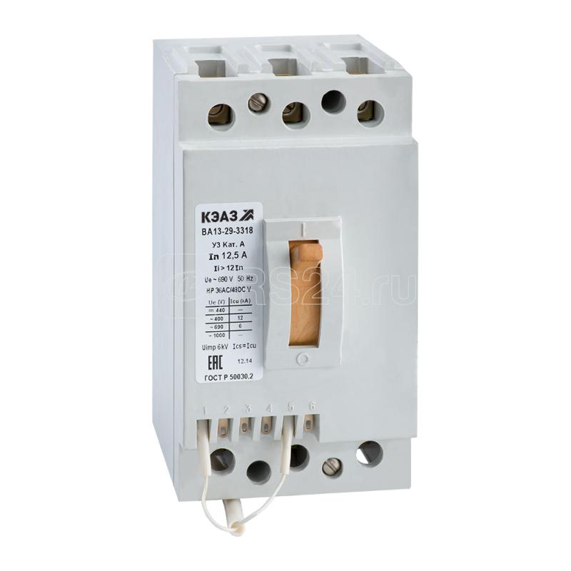 Выключатель автоматический 63А 12Iн ВА1329-3200 У3 660В AC КЭАЗ 107861 купить в интернет-магазине RS24
