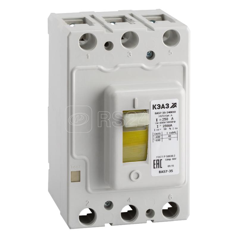 Выключатель автоматический 80А 1250Im ВА57-35-340010 УХЛ3 690В AC КЭАЗ 108580 купить в интернет-магазине RS24