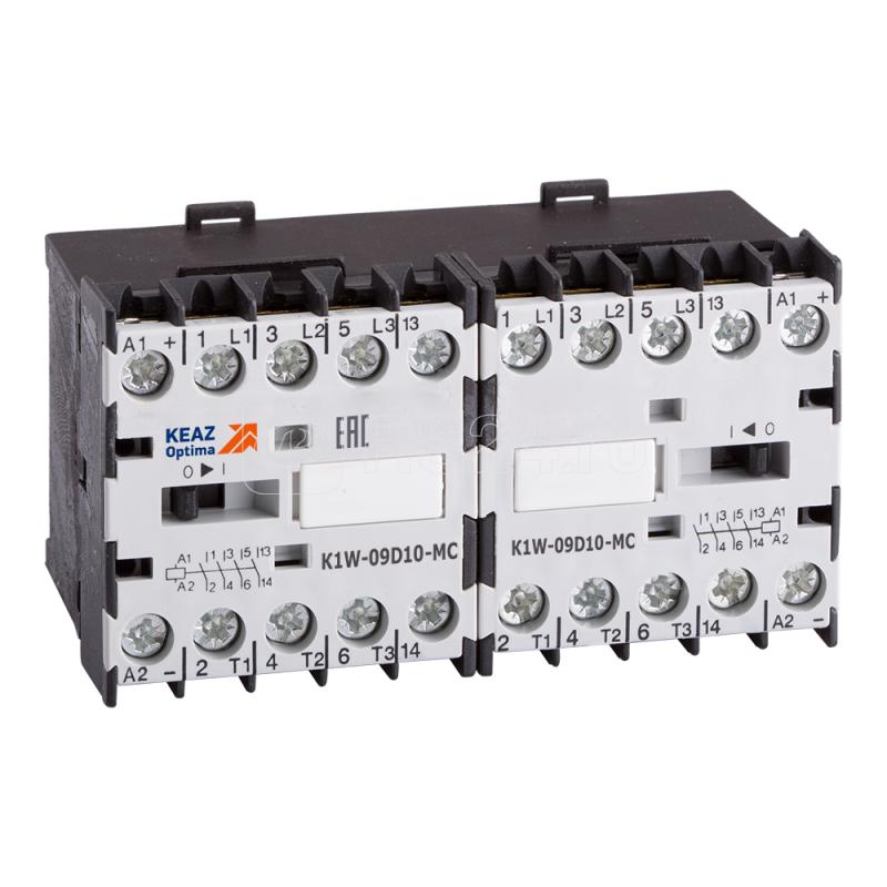 Миниконтактор реверсивный OptiStart K1W 12D01 MC=24DC КЭАЗ 117375 купить в интернет-магазине RS24
