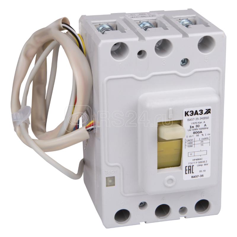Выключатель автоматический 200А 630Im ВА57-35-344710 УХЛ3 690В AC НР=24В DC КЭАЗ 129748 купить в интернет-магазине RS24