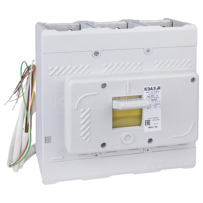 Выключатель автоматический 630А 5000Im ВА51-39-344510 УХЛ3 690В AC КЭАЗ 220901 купить в интернет-магазине RS24